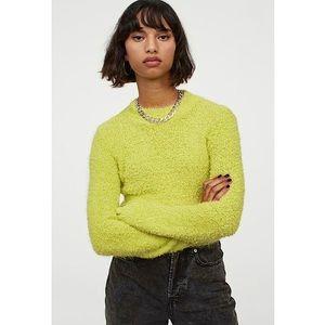 NWT! H&M | Neon Green - Bouclé Sweater 💚